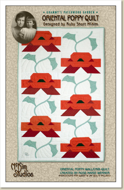 Ruby Short McKim/'s Diamond Paned Tulip Quilt—Queen Table Topper Lap